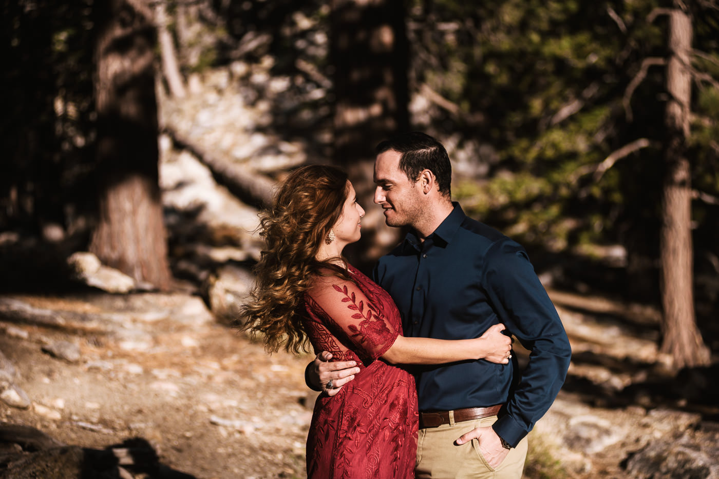 Mountain top engagement session in Southern California.