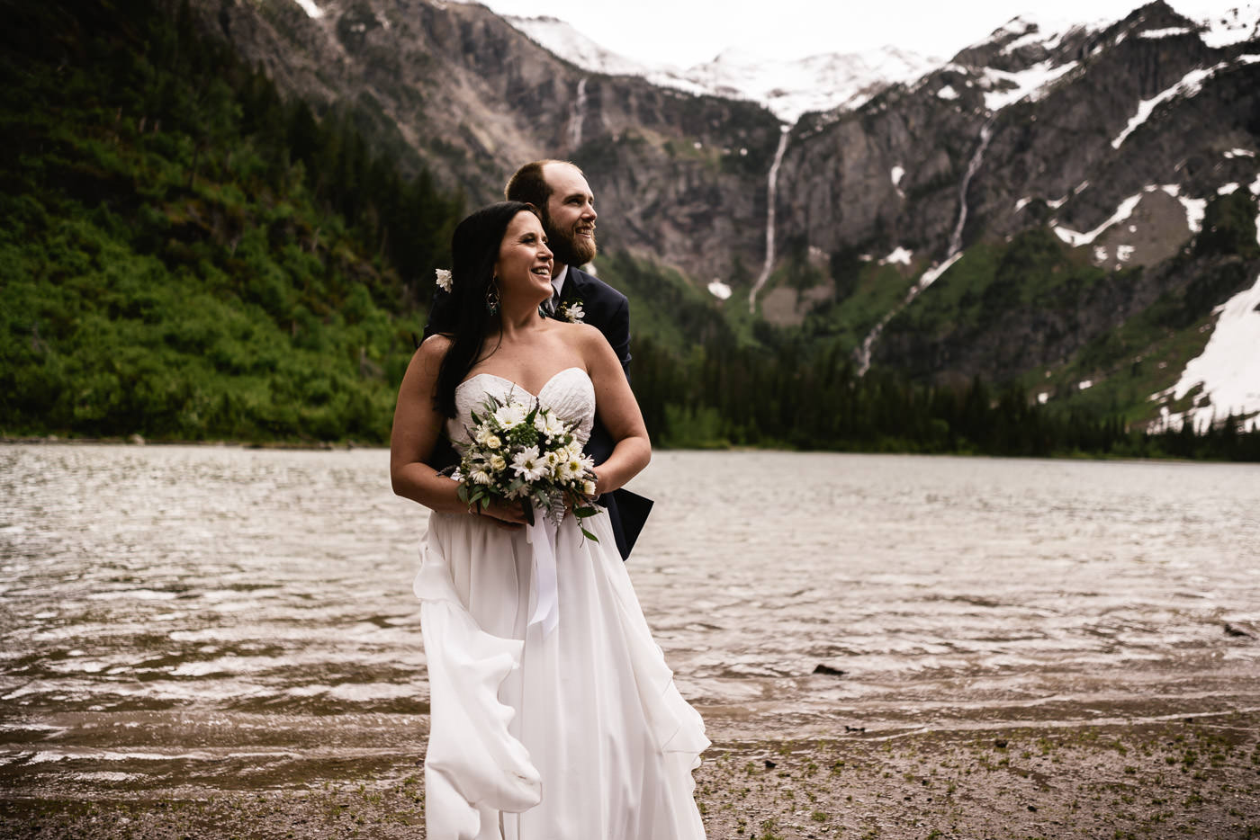Avalanche Lake Elopement in Montana.