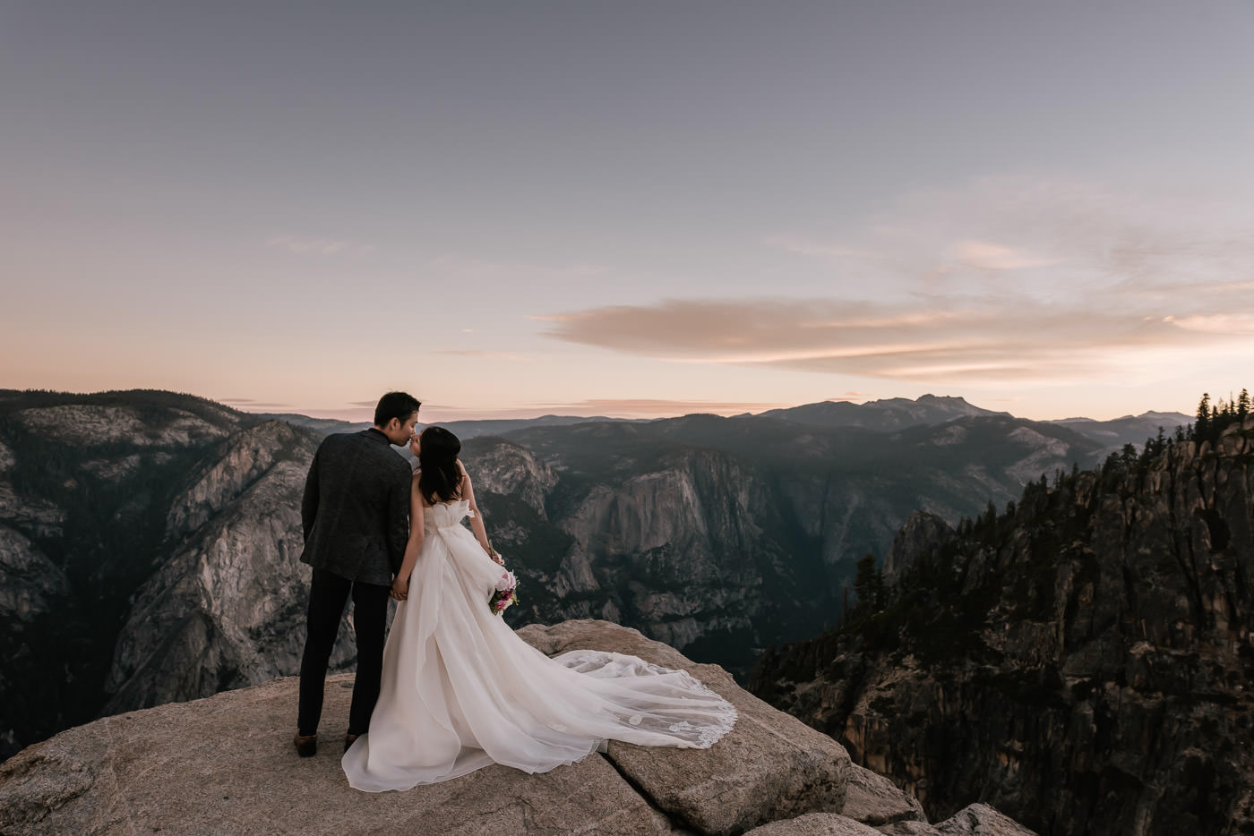 Taft Point elopement session in the majestic Yosemite Valley.