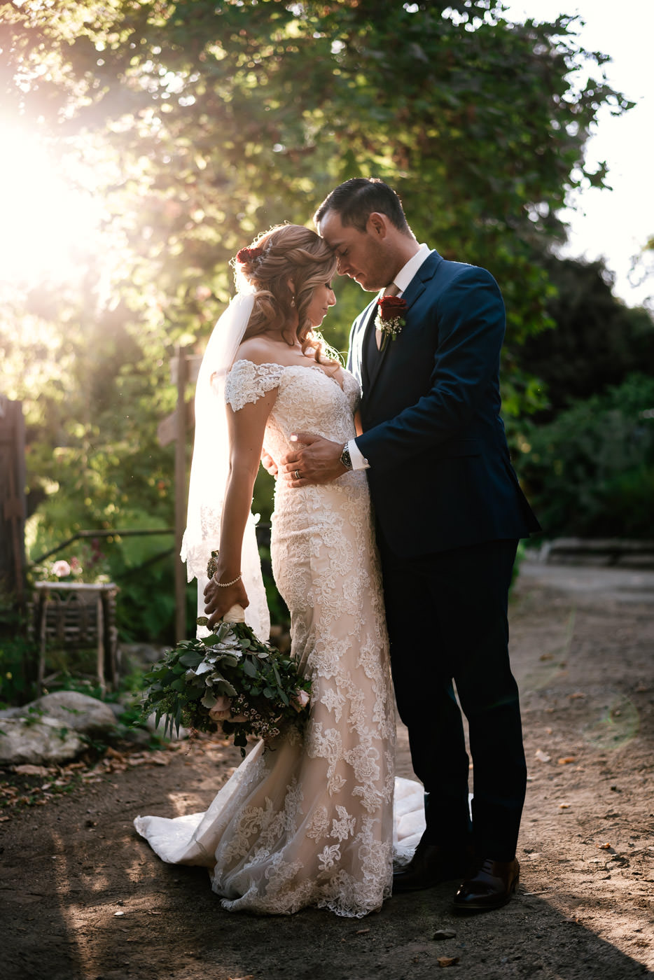 Romantic wedding photos at The Homestead in Wilshire Ranch.