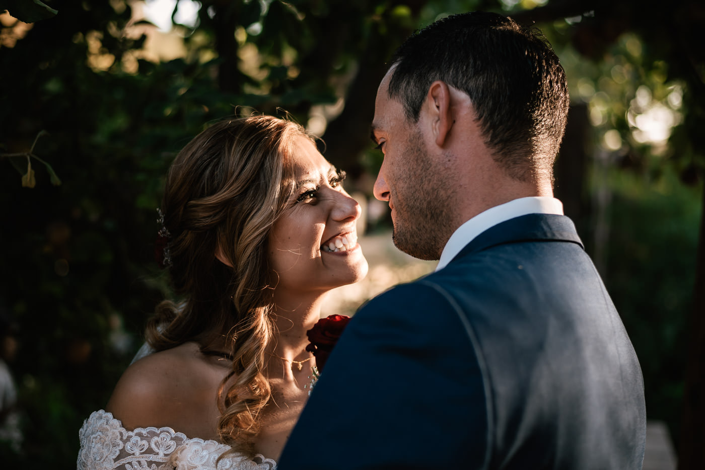 This happy couple is nothing but smiles after their charming ceremony at The Homestead.