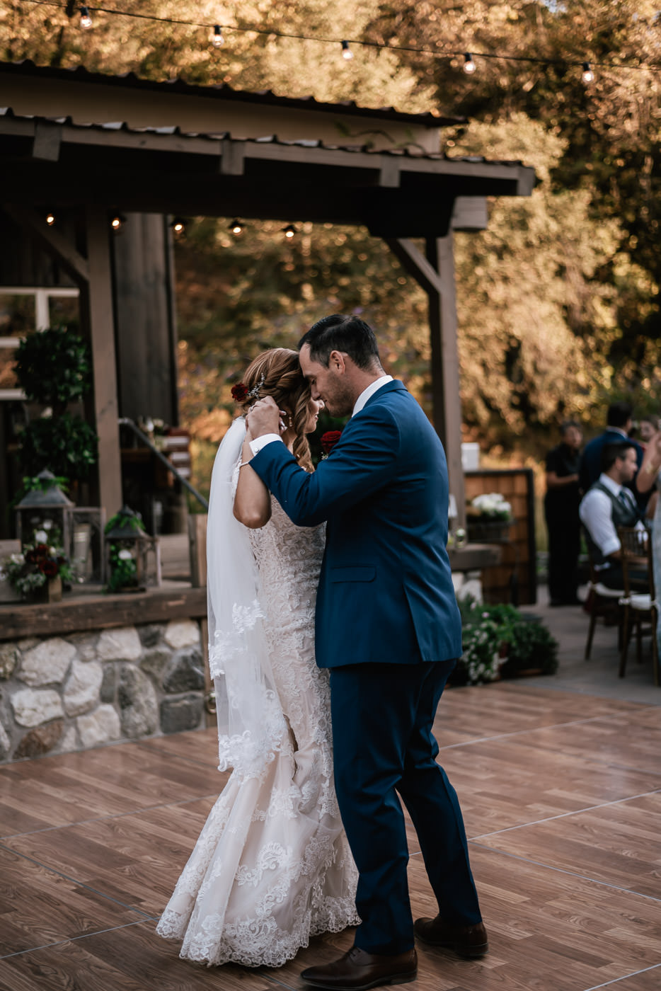 First dance at this rustic wedding at The Homestead.