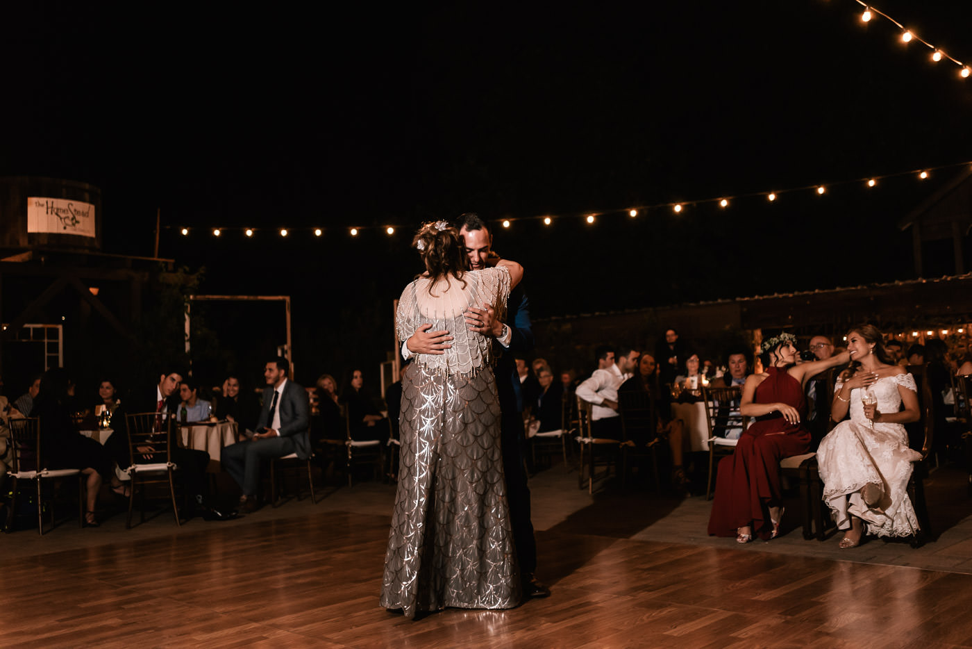 Mother and son dance at The Homestead.