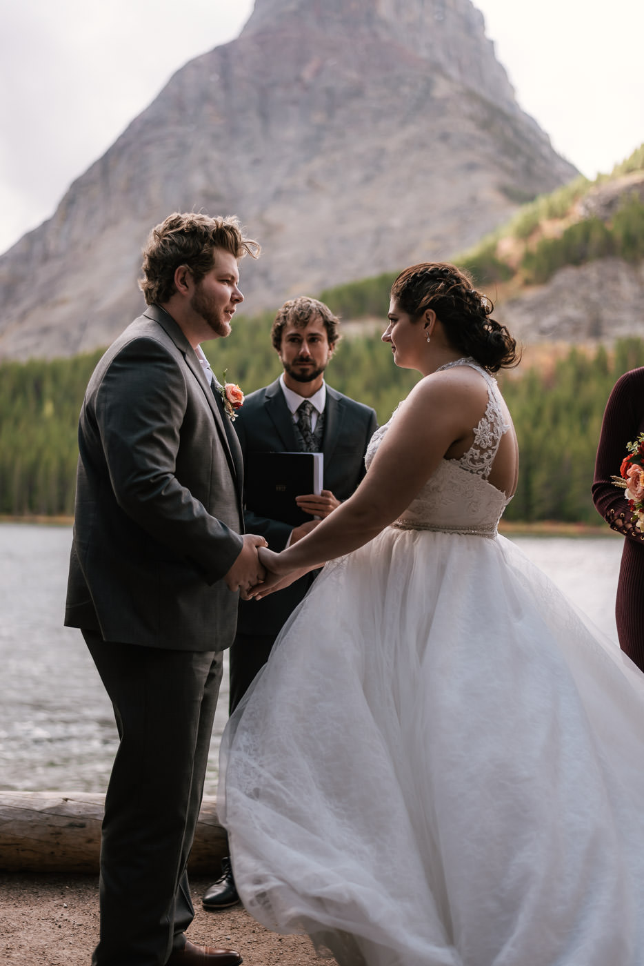 Couple exchanges their vows and pledges their lives to one another in Montana.