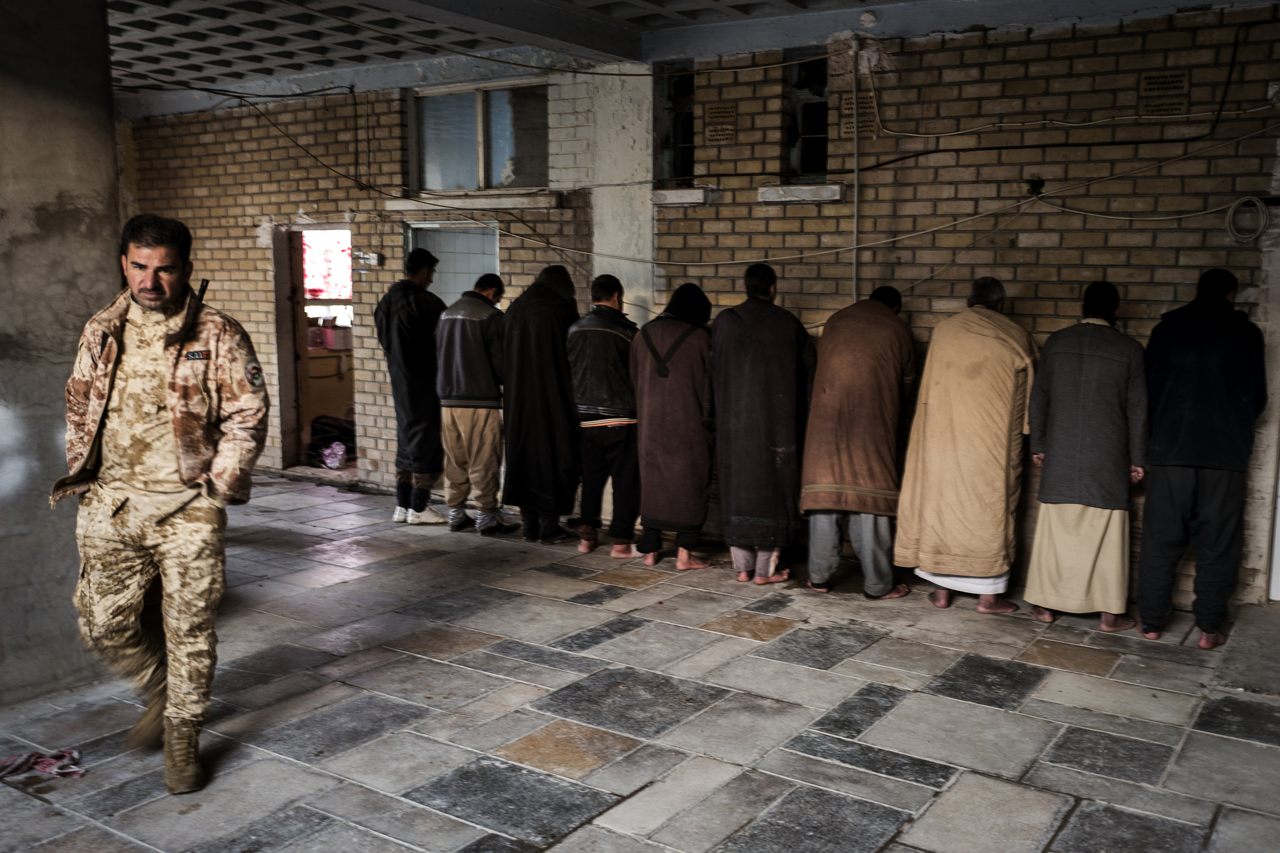 IDPs suspected of collusion with ISIS are held at a detention facility near Kirkuk.