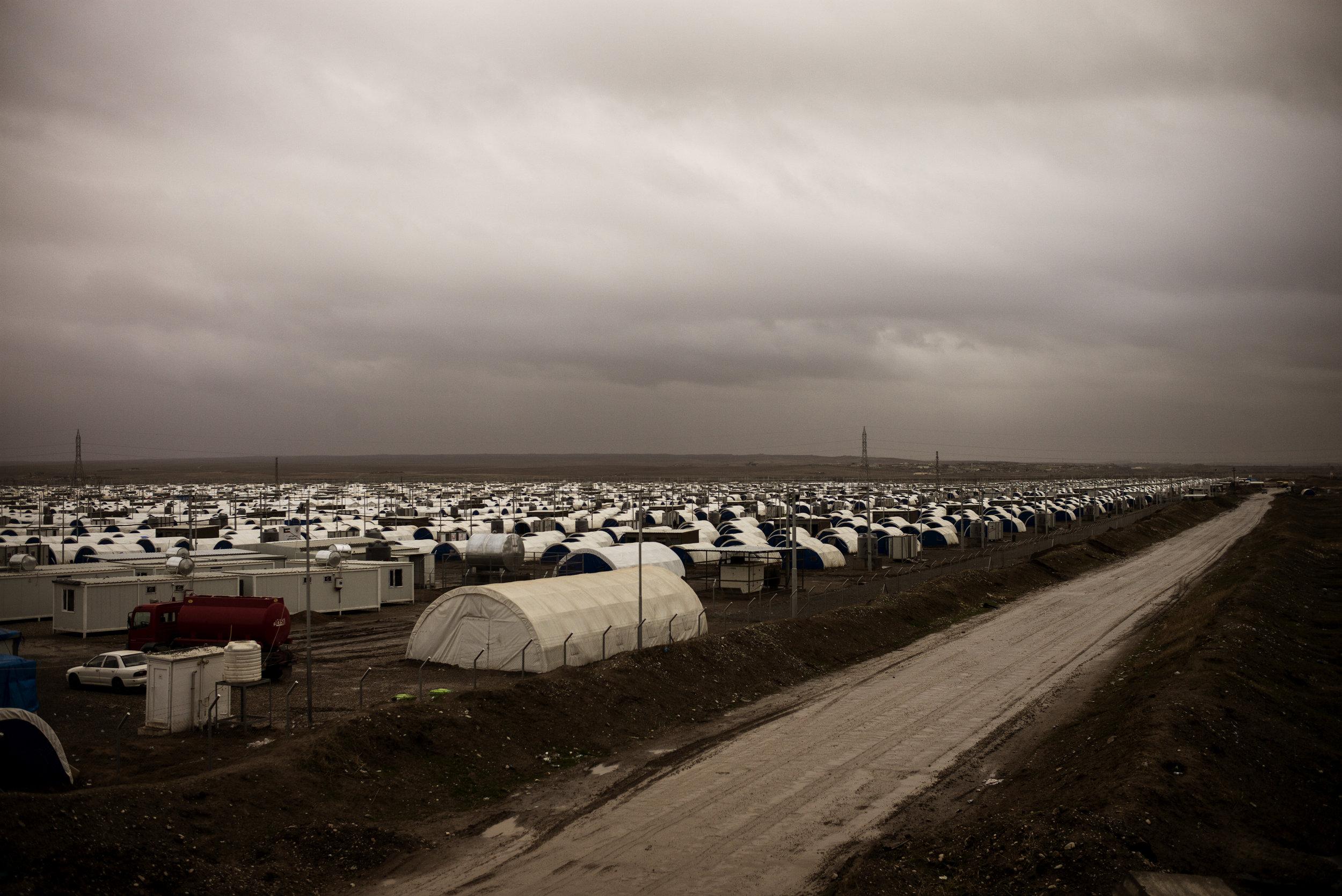IDP camp outside Mosul.