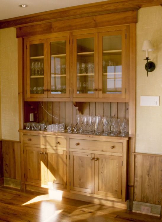Recessed china cabinet and hutch