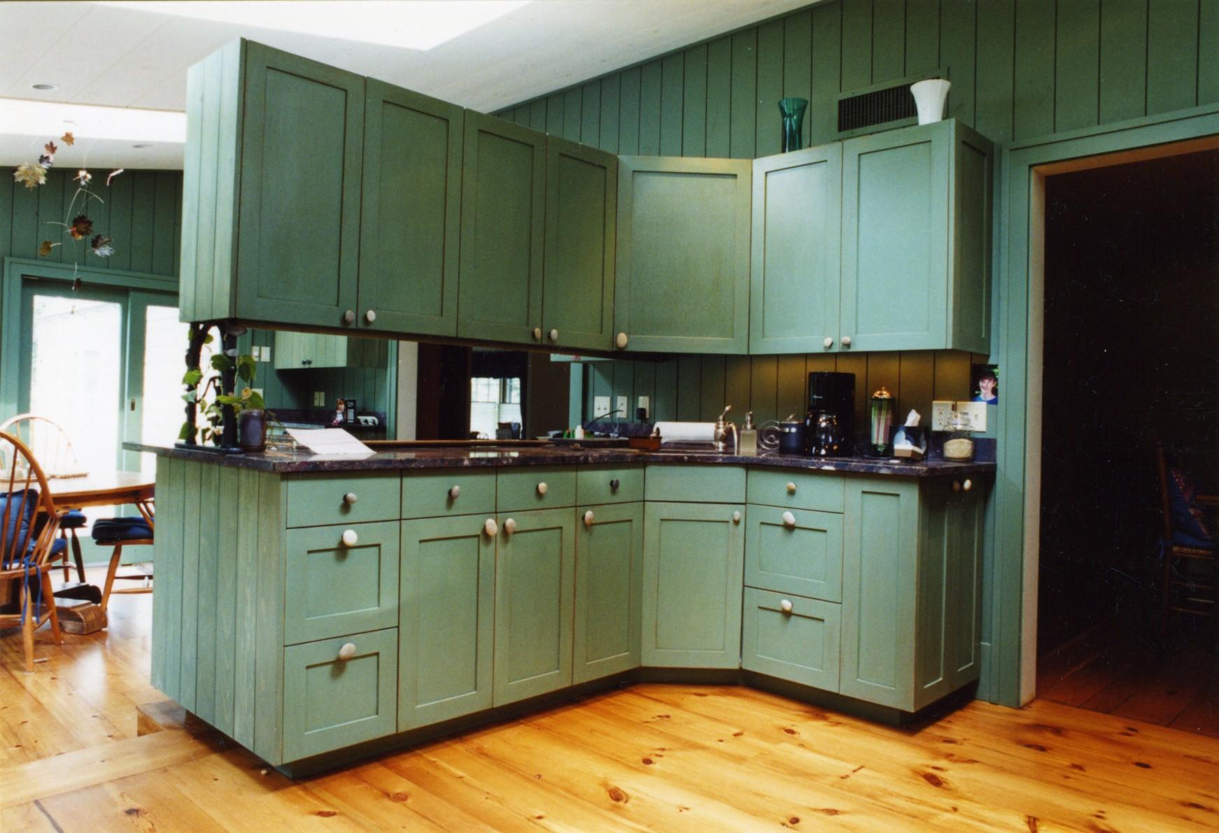 Custom cabinets and flooring