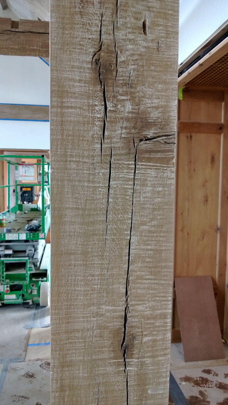 White Oak Beam with Chain Saw Texture