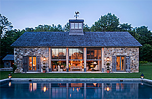 Stone & Timber Refuge  Design by:  G. P. Schafer Architect