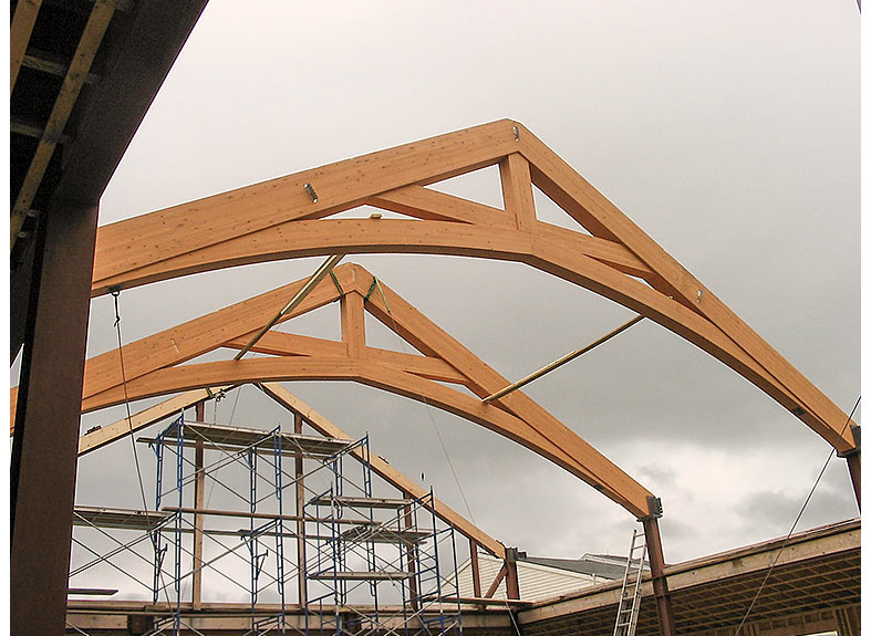 Axially connected trusses