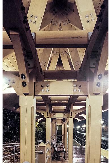 Timber frame train station