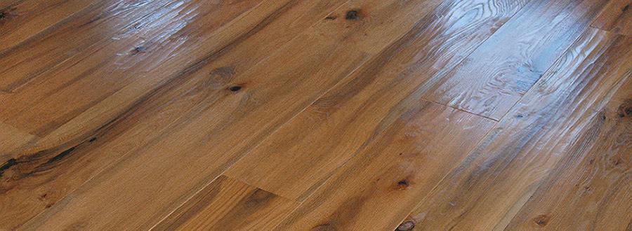 Hand Planed Wide Plank Floor