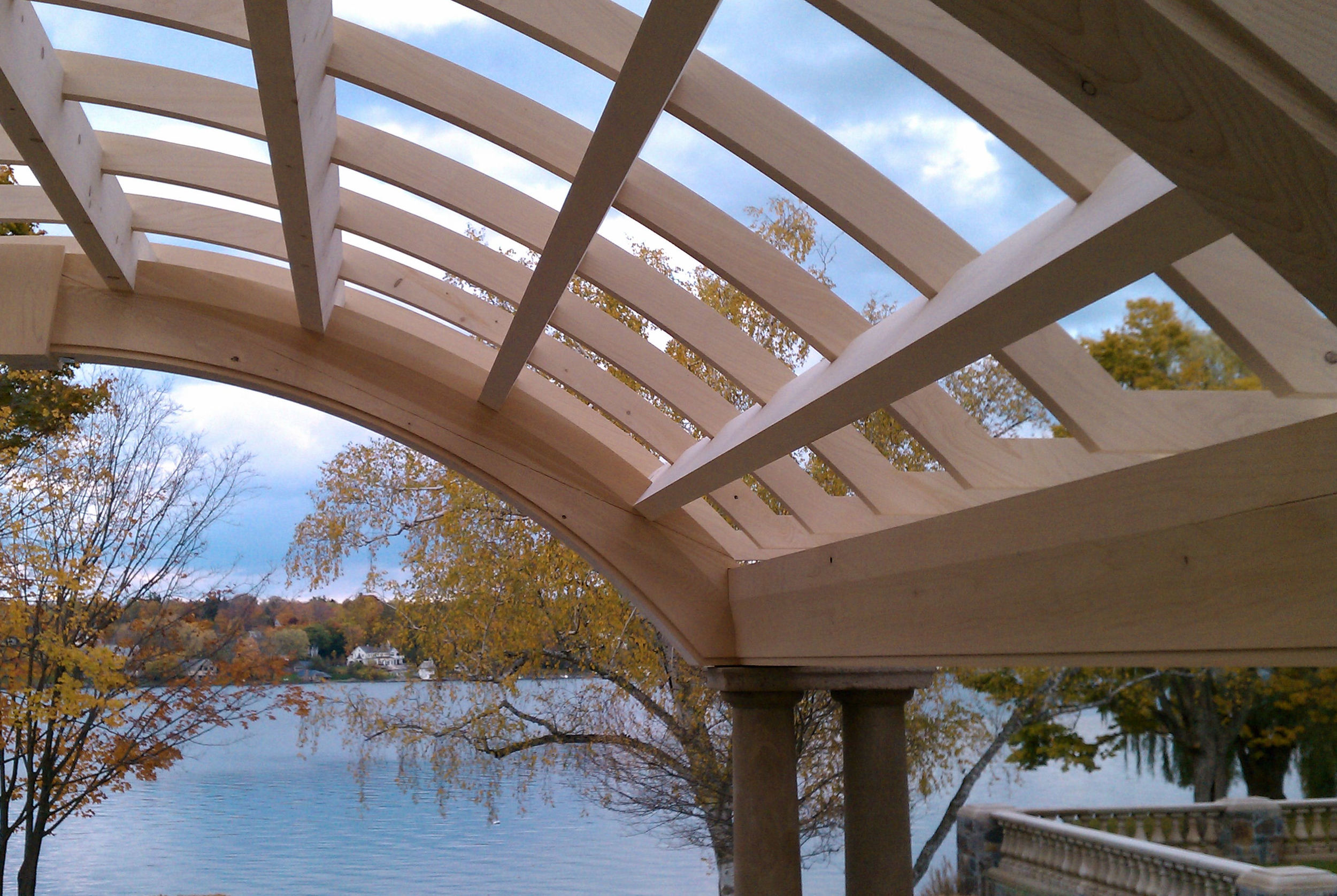 Port Orford cedar pergola with arbor