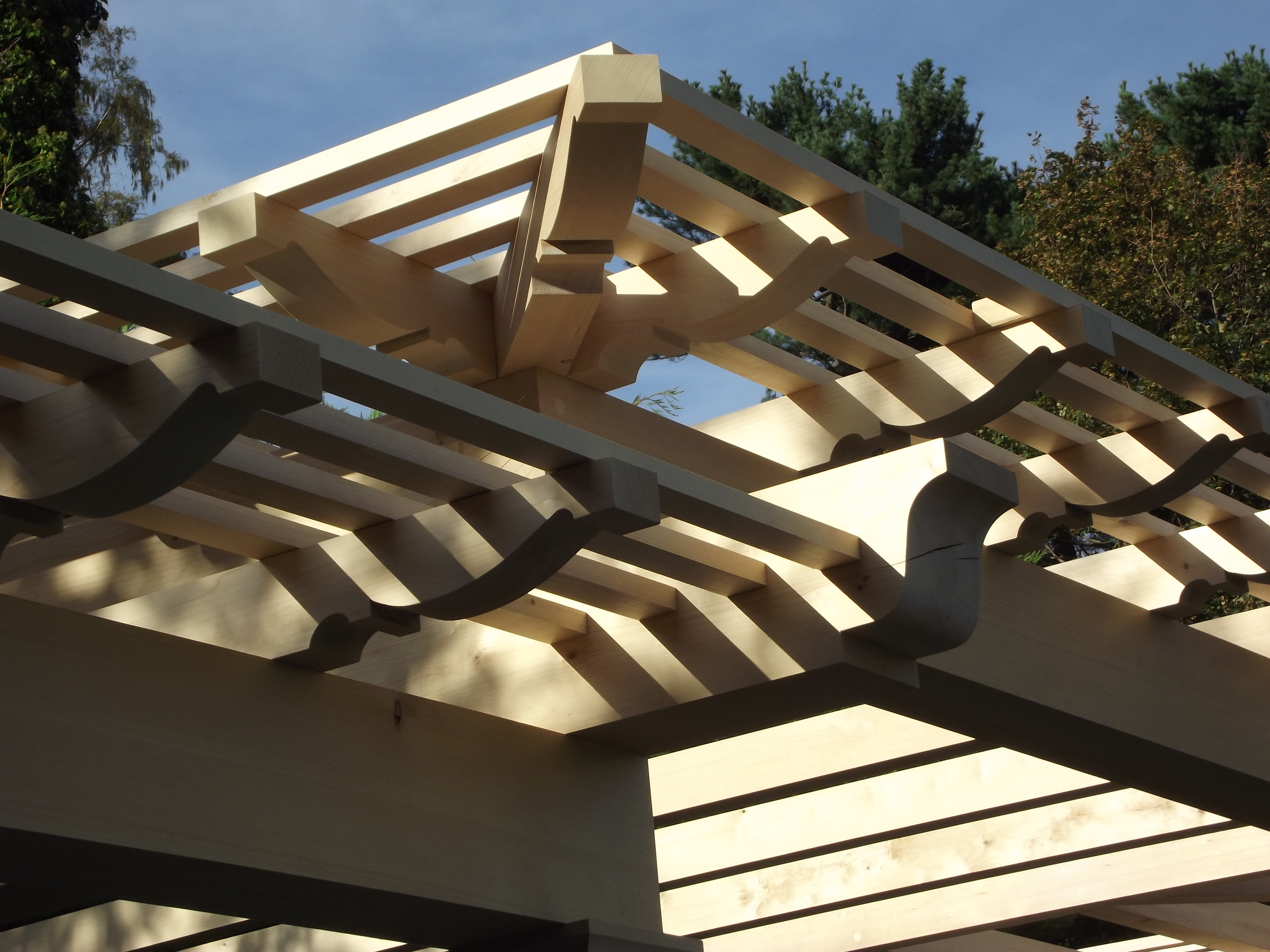 Port Orford cedar pergola