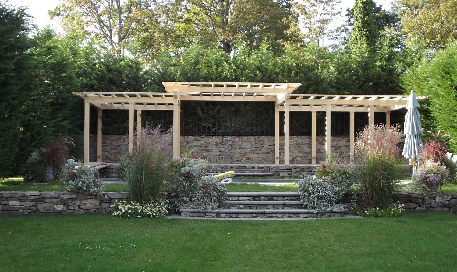 Pergola of Port Orford cedar