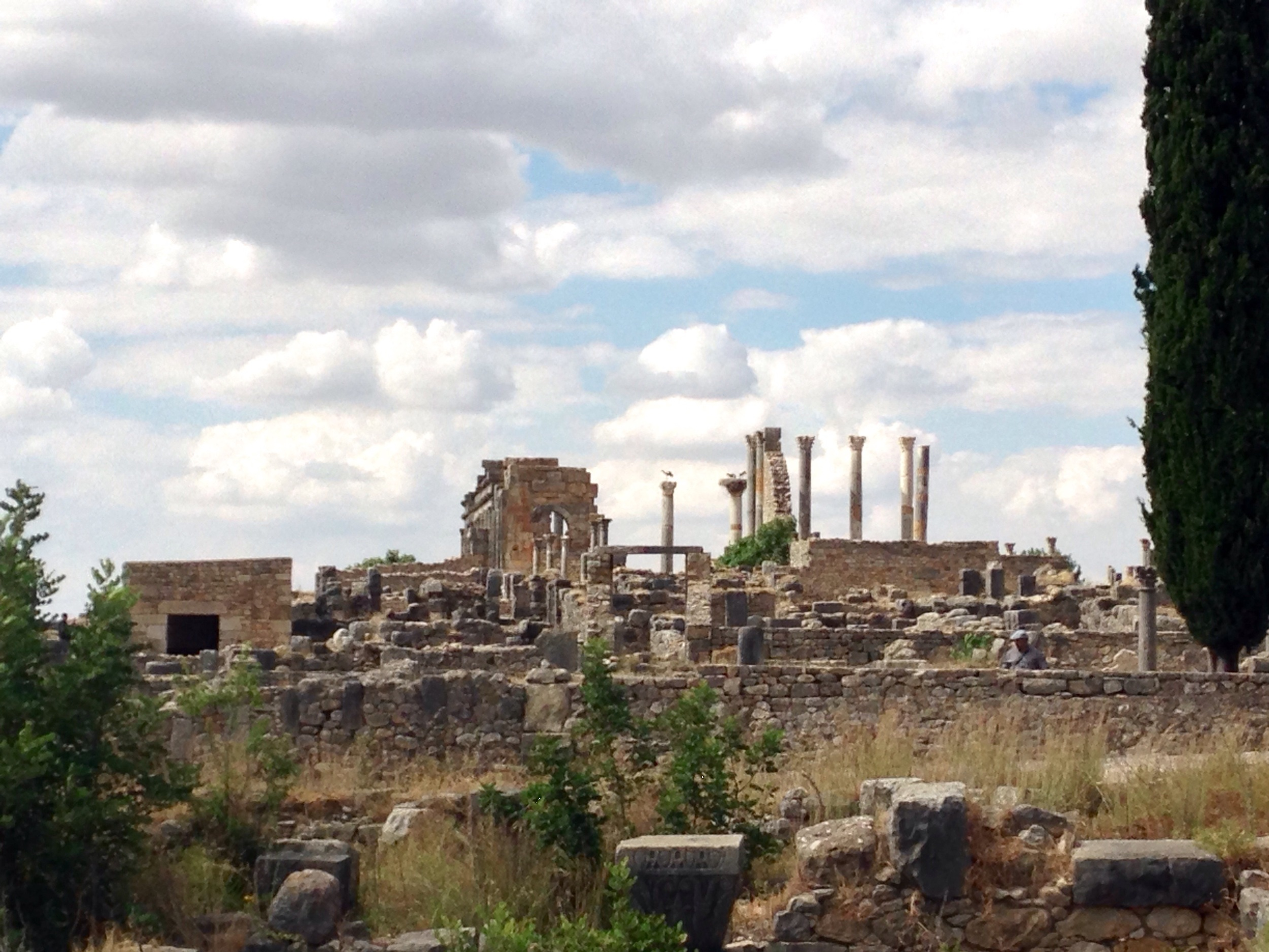 The ruins of Volubilis.