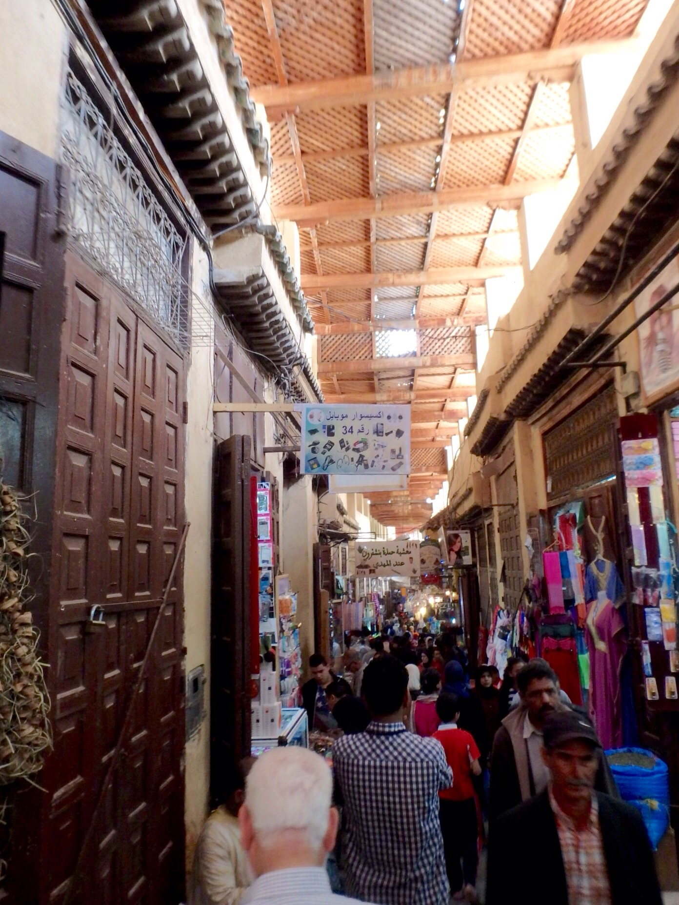 One of the wider alleys inside the medina.