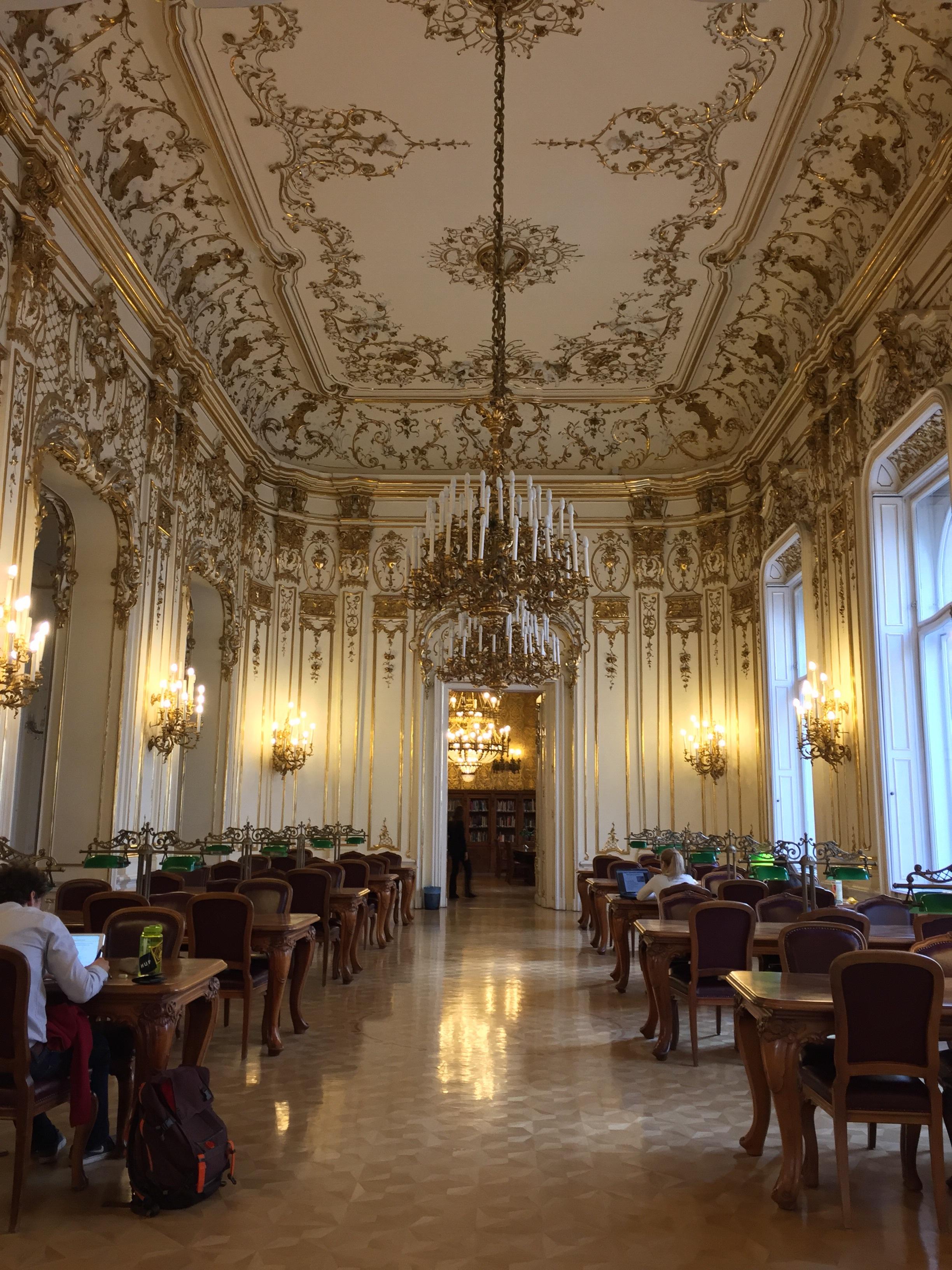 A study hall inside the Metropolitan Library