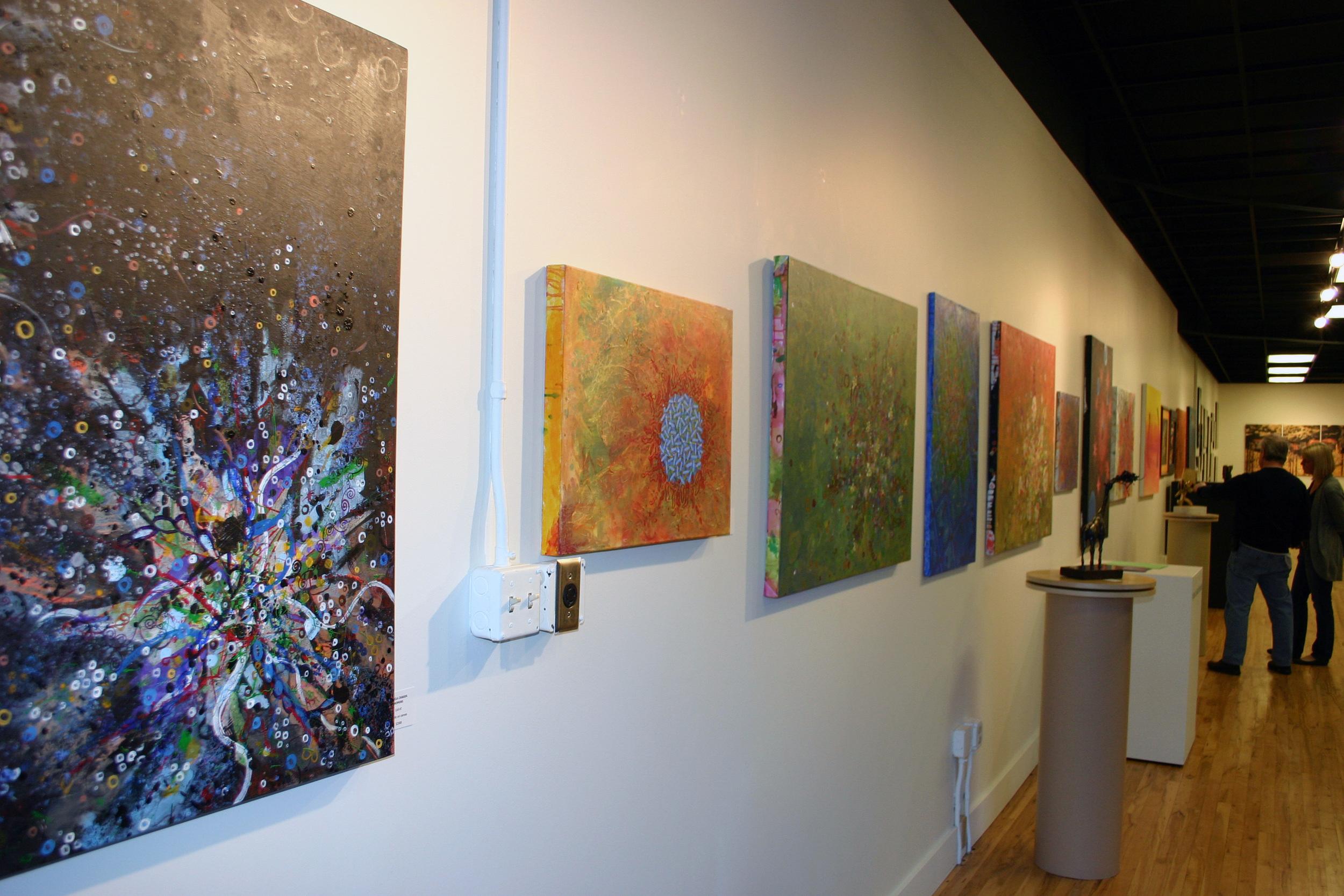 Art show in Santa Fe art district, Denver, CO