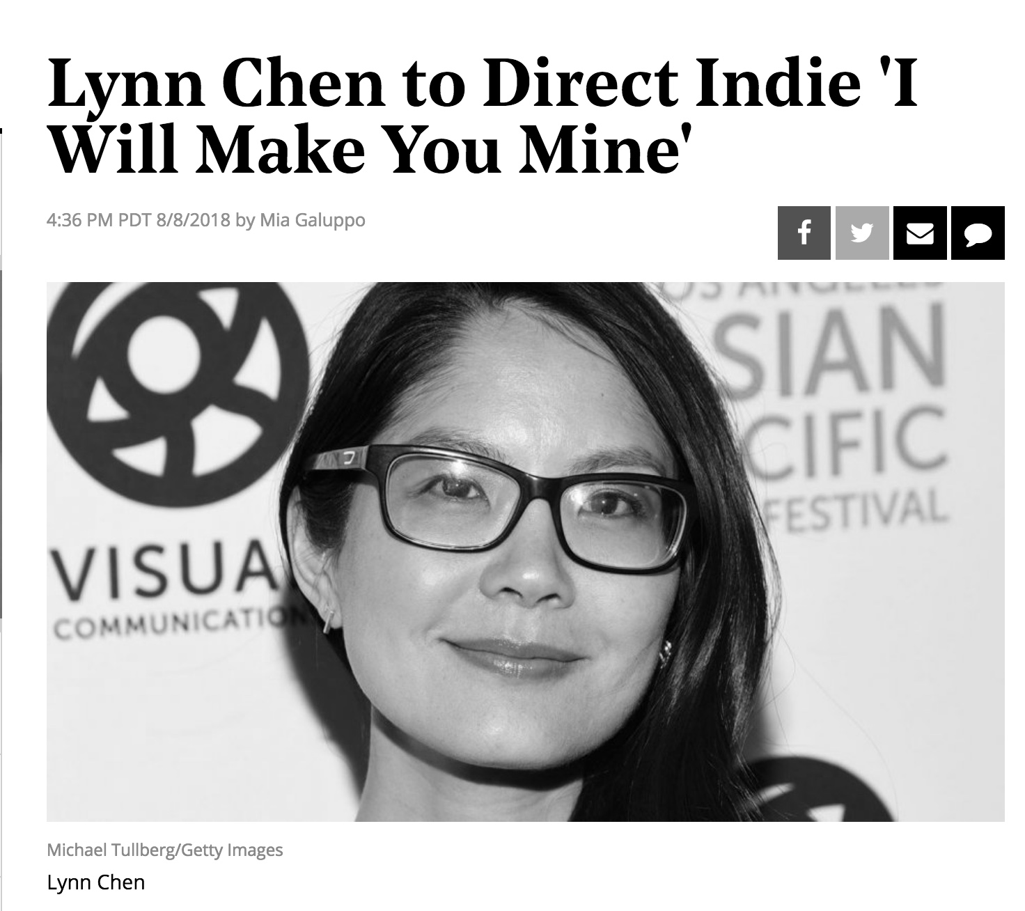 Lynn is currently directing her first feature film,   I Will Make You Mine  , which she also wrote, is producing, and starring in. Read The Hollywood Reporter announcement  here .