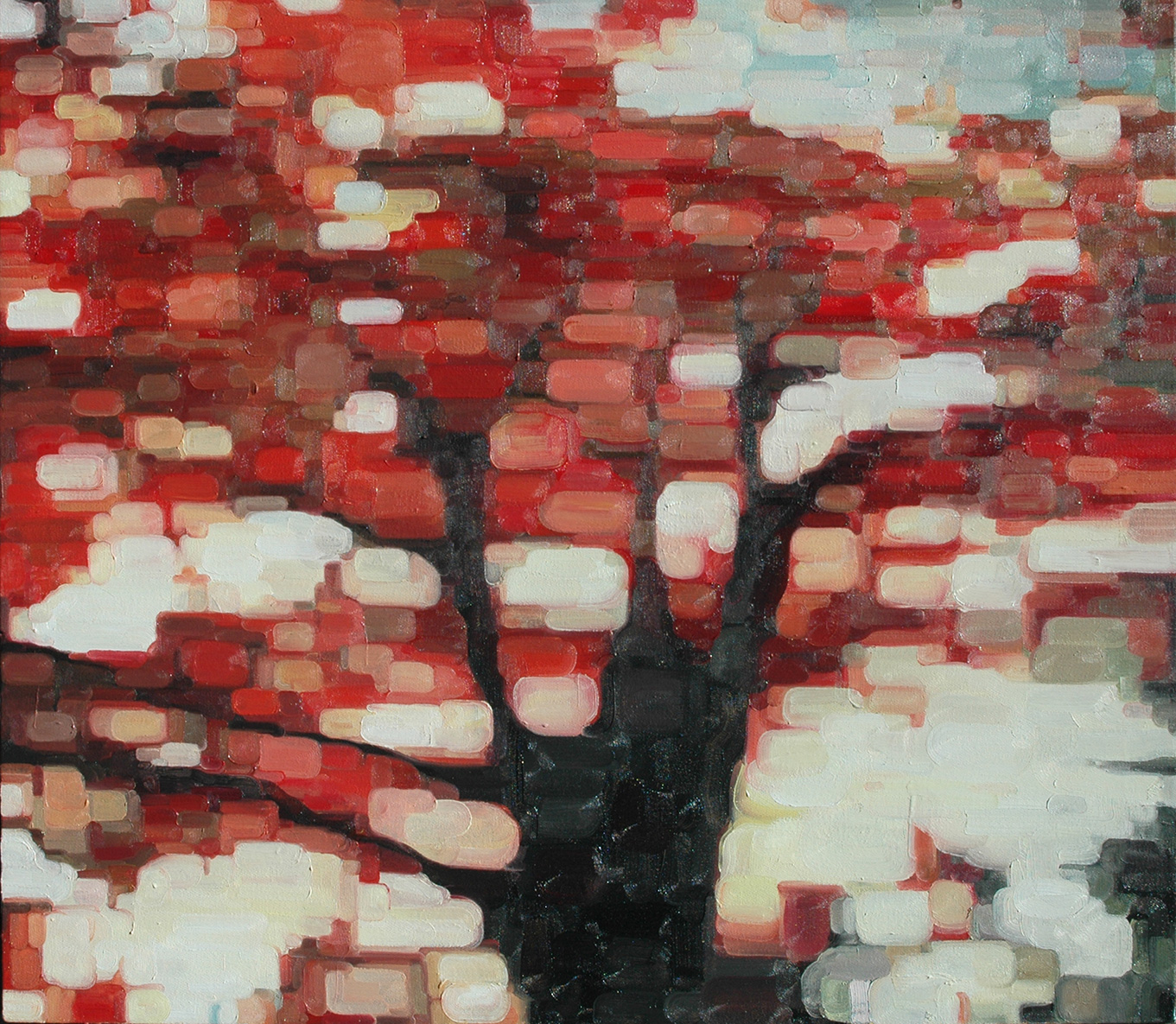 Between the Leaves / 36 x 30 in. / oil on canvas / Collection of Joe and Kaye Krum