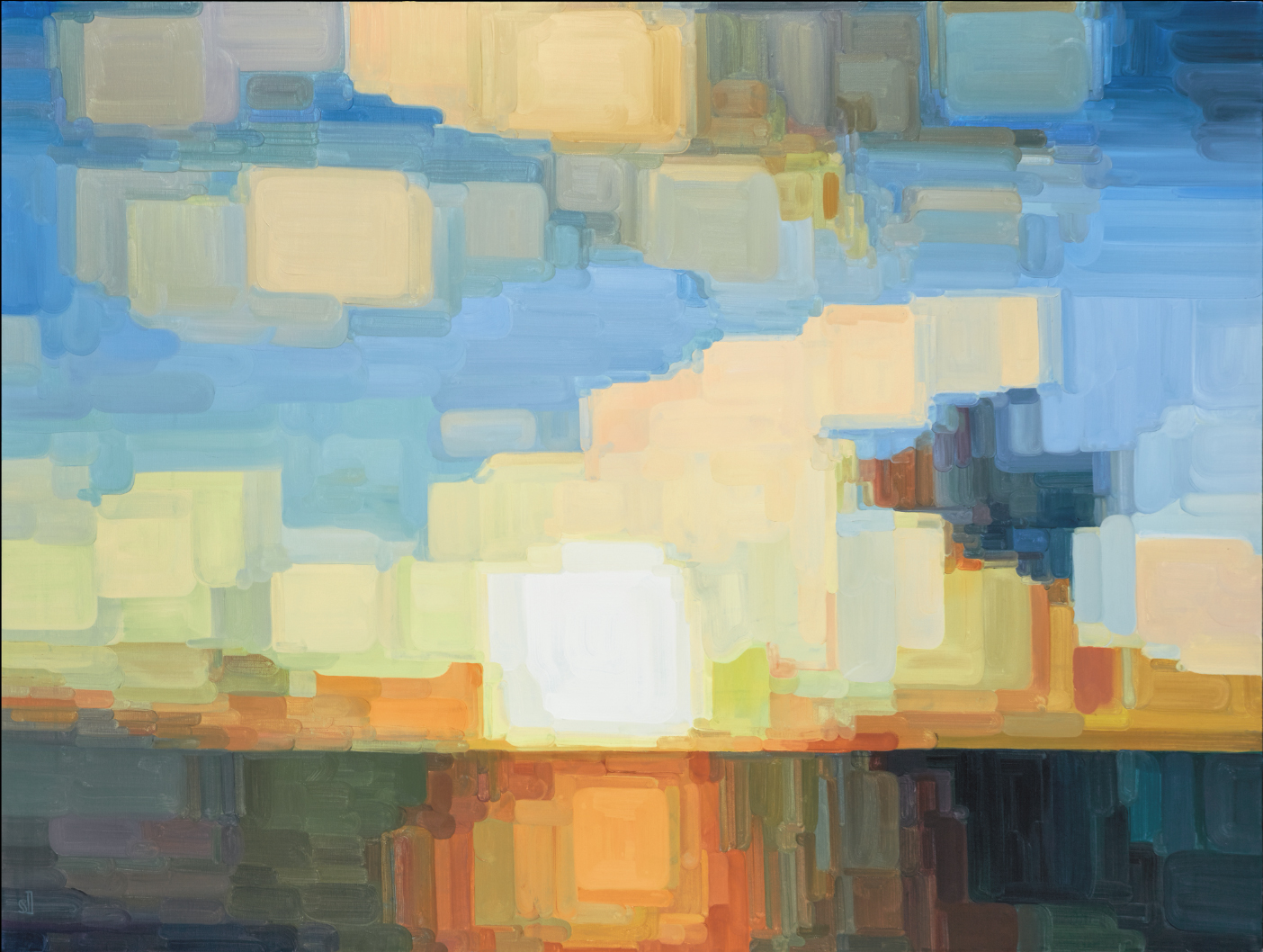 El Amanecer / 60 x 48 in. / oil on canvas collection of Ben & Holly Mehling