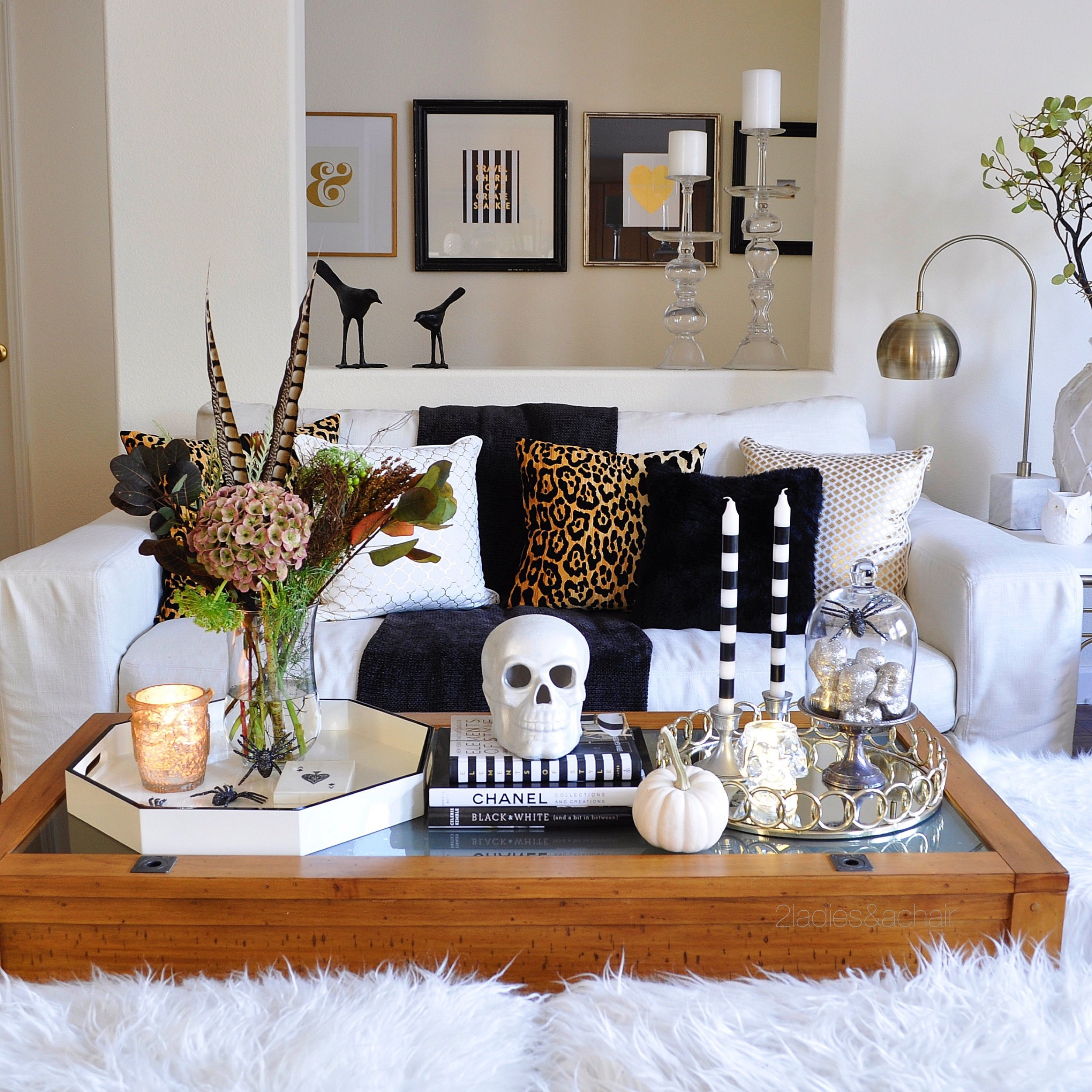Styling a Coffee Table Halloween — 2 La s & A Chair