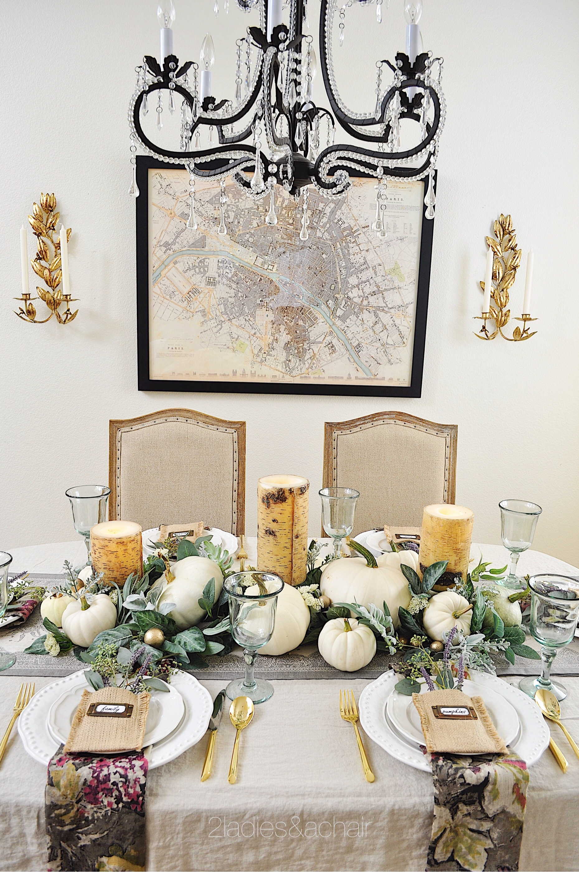 A Simple Beautiful Way To Decorate Your Dining Table For Fall 2 Ladies A Chair
