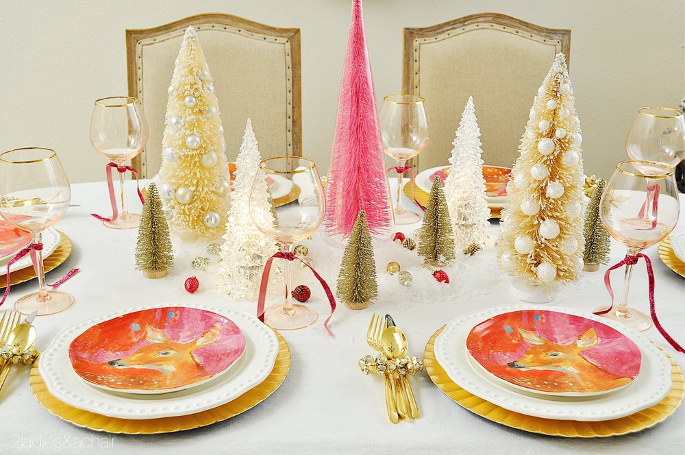 Christmas Table Scape Ideas.3 Uniquely Beautiful Christmas Tablescape Ideas 2 Ladies