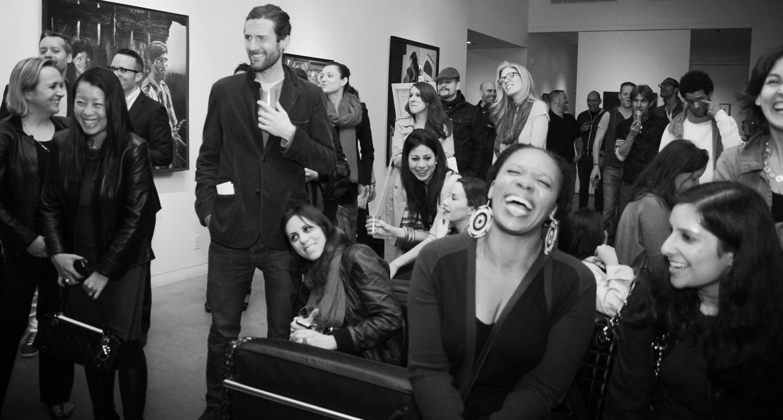 Art Auction Group photograph Pop-Up Art Event