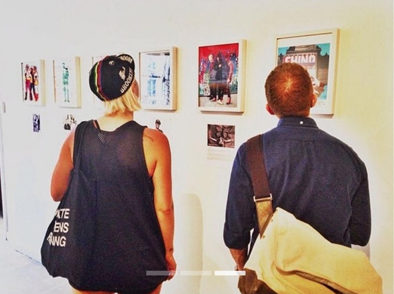 Aaron Bisman at Pop-Up Art Event