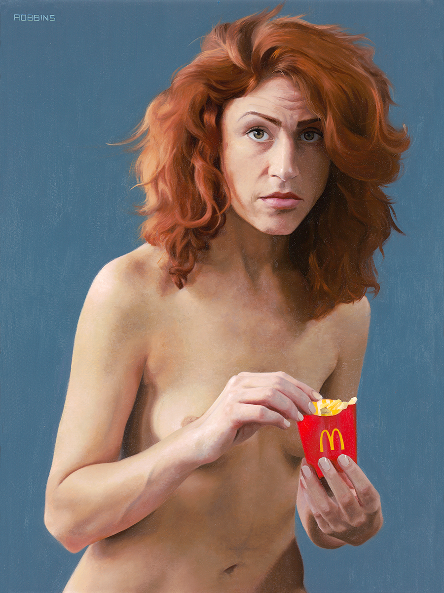 "Mrs. McDonald, 24""x18"", oil on linen, 2014"