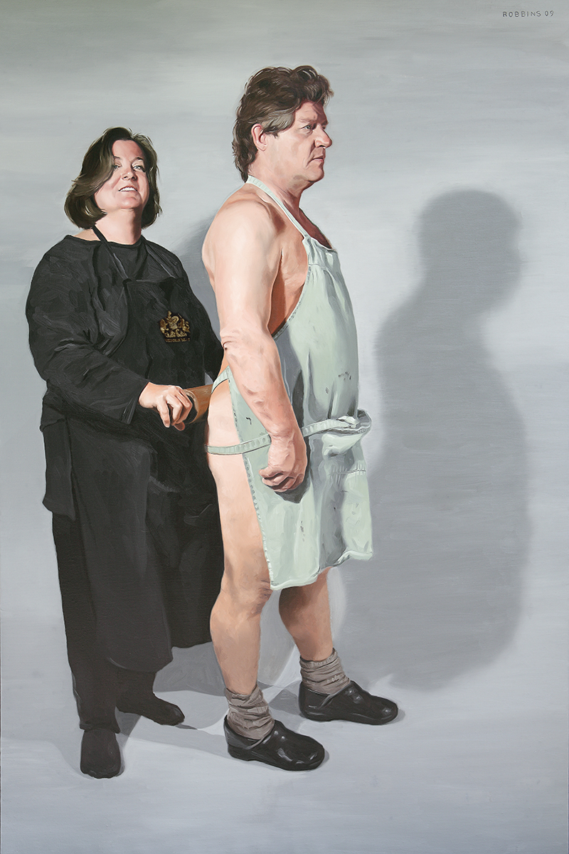 "The Rolling Buns, 72""x48"", Oil on Linen, 2010, NFS"