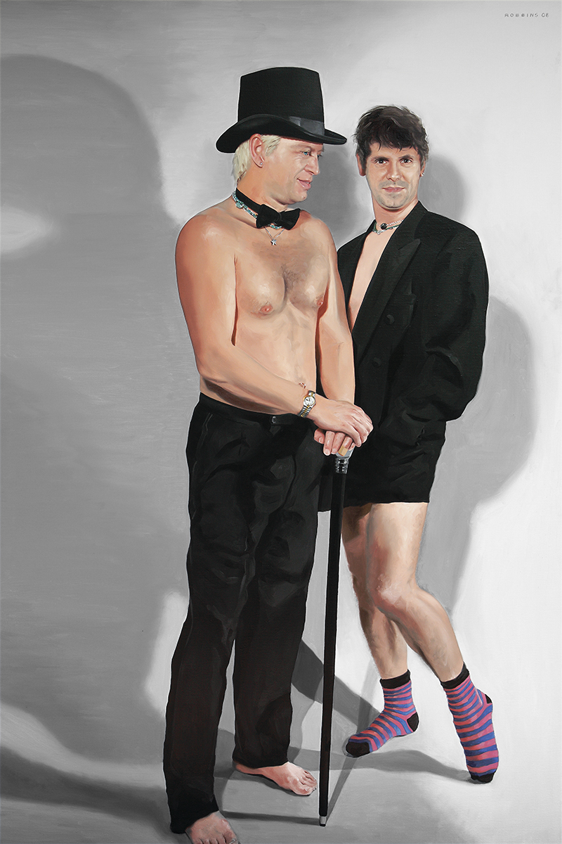 "A Beautifil Pair of Socks, 72""x48"", Oil on Linen, 2008, NFS"
