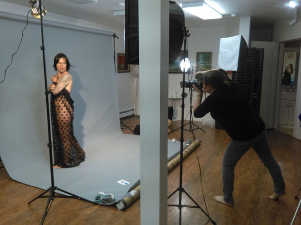 Photo: Image of me photographing Diane.