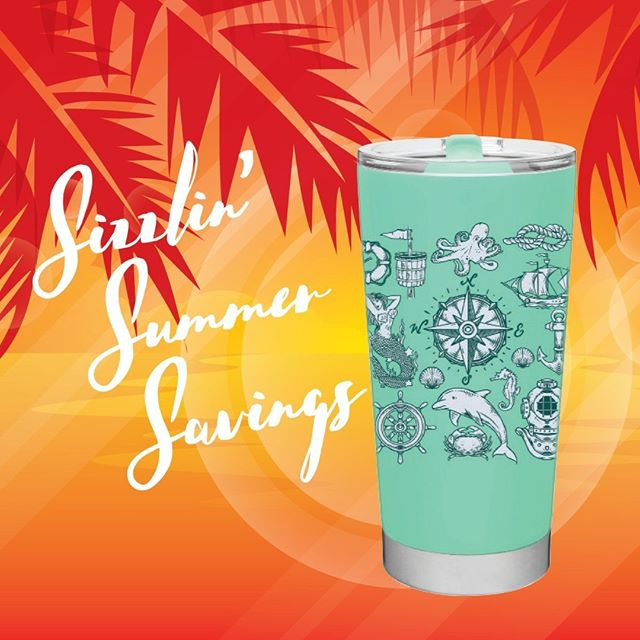 Sizzlin' Summer Savings 🌞 Take 20% off of drinkware through August 11th. Use code: SIZZLINSAVINGS