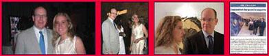 Prince Albert and Caroline Bergonzi. Bonelli Eagles art opening.