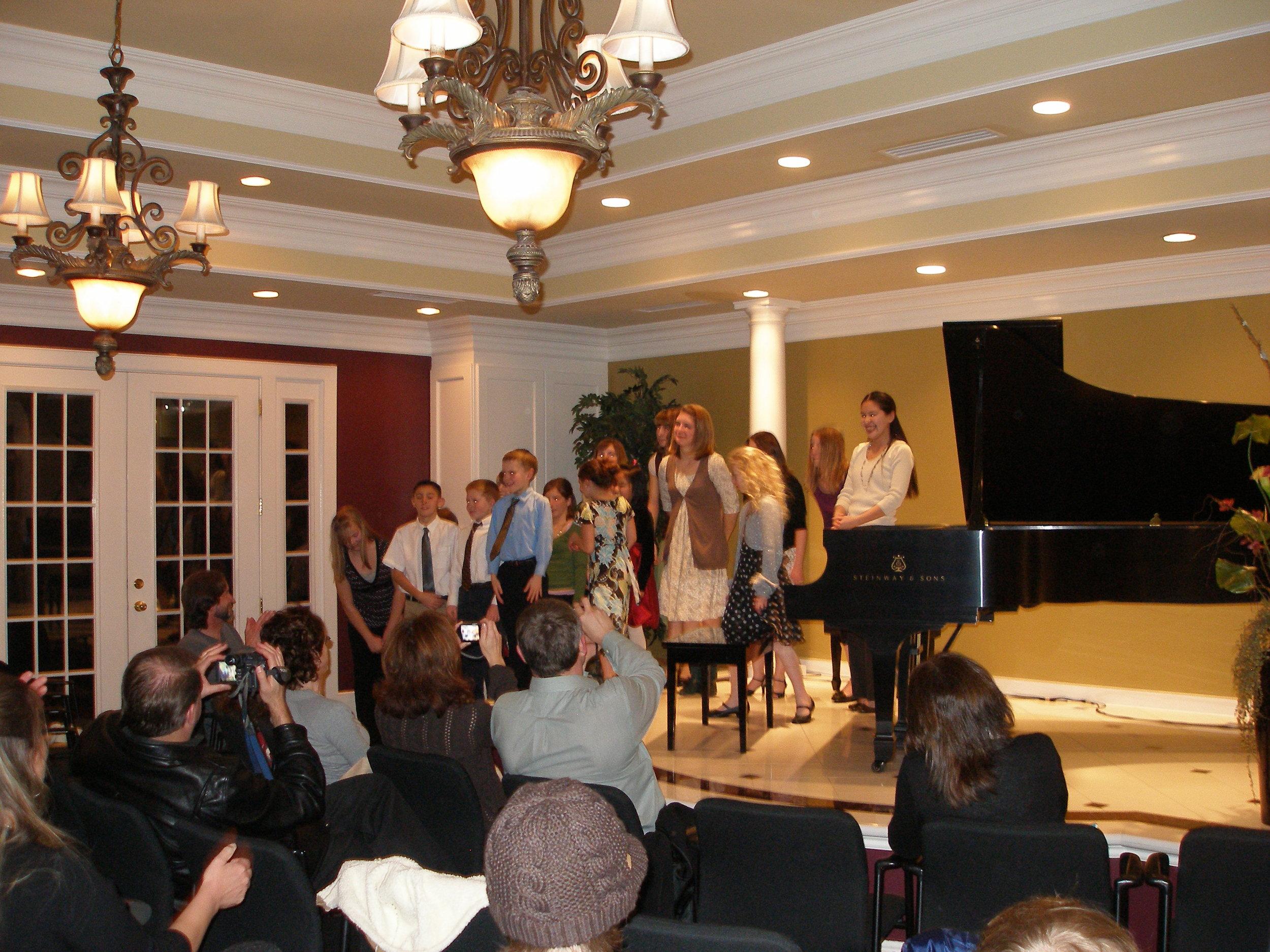 Studio recital at Daynes Music