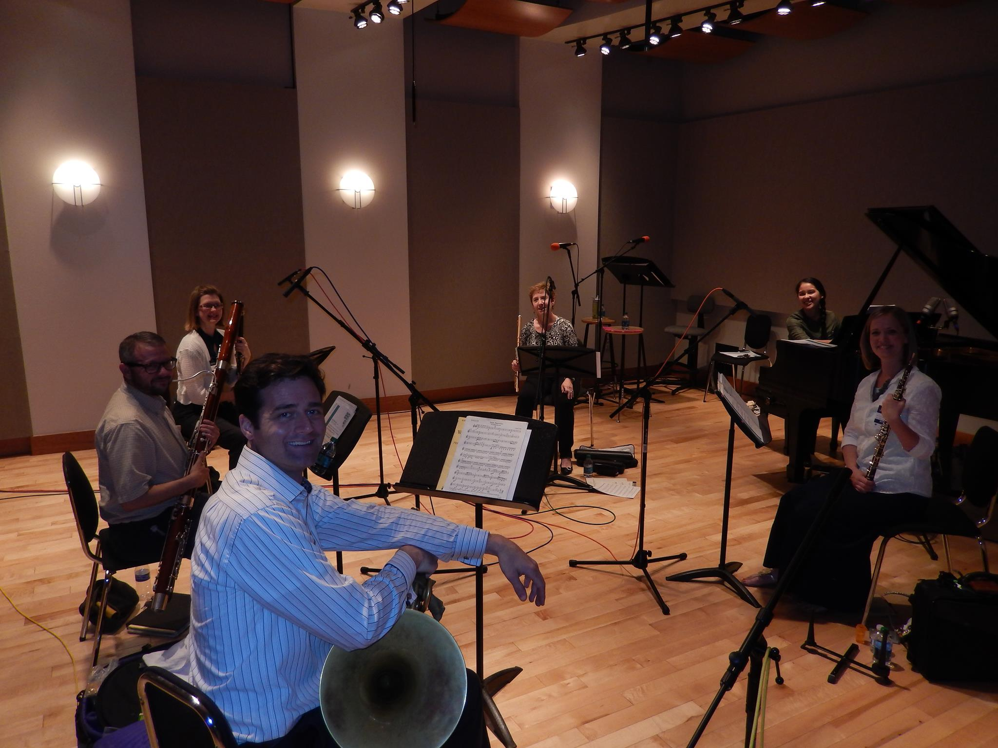 Aspen Winds in recording studio for KBYU Highway 89 (May 2014)