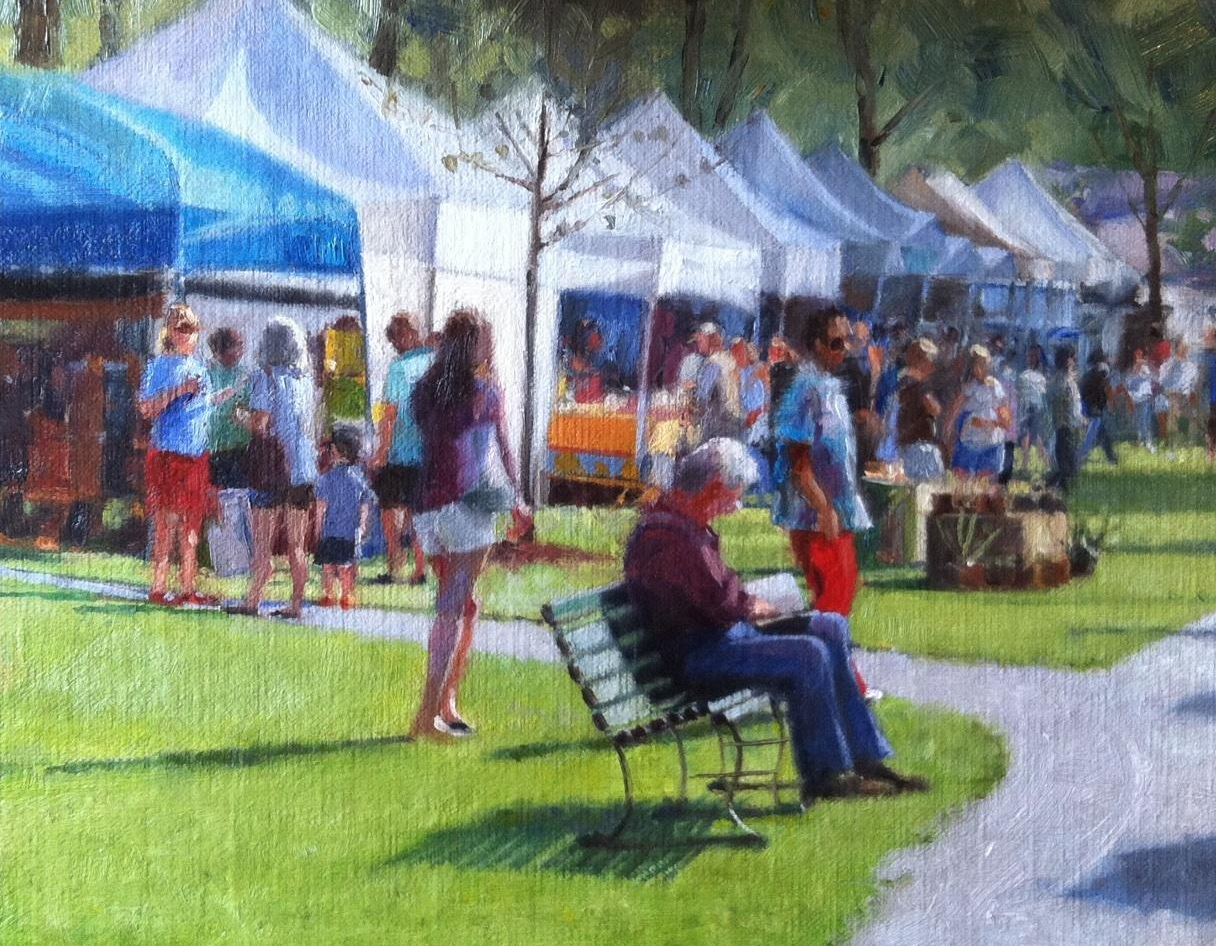 Farmer's Market, Barnstable   8 x 10 Oil $600