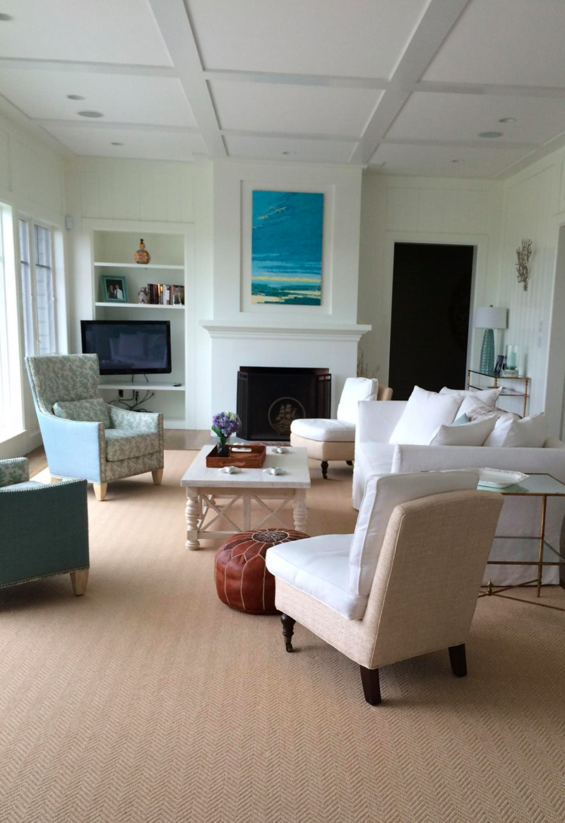 Seaside home on Nantucket Sound in Harwichport of one of the Gallery 31 collectors.