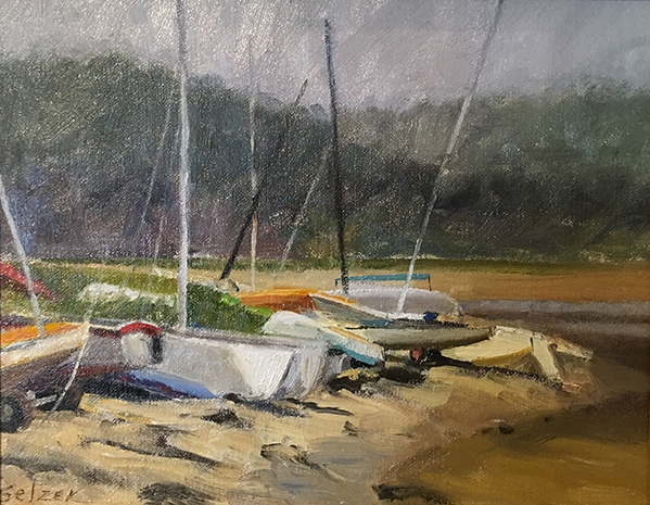 Line Up on Pleasant Bay   6 x 8 Oil $425
