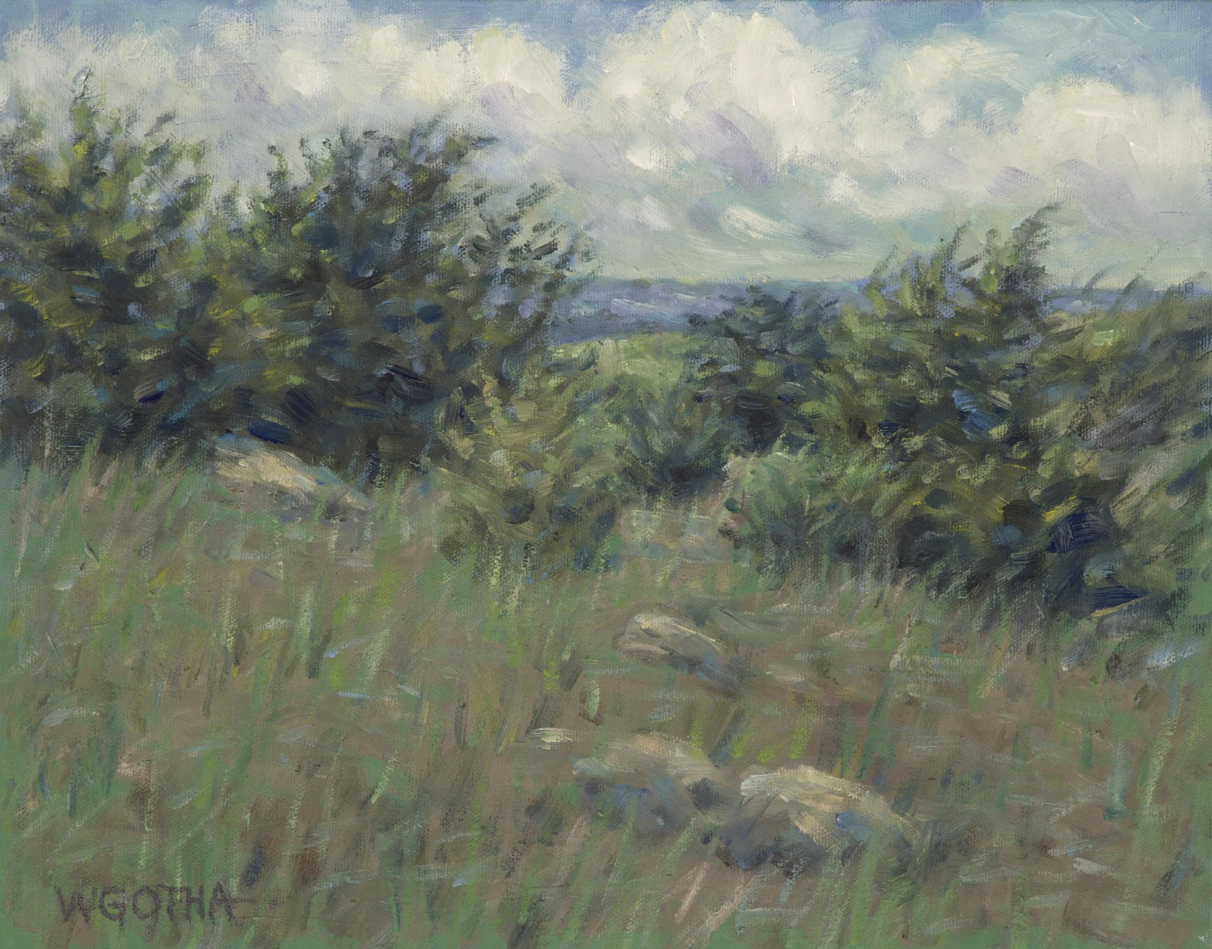 Sea Breeze   (Paine's Creek, Brewster) 11 x 14 oil by William Gotha $950