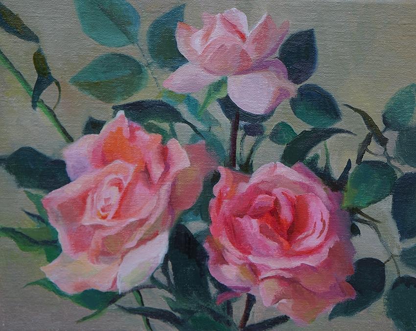 Summer Roses   8 x 10 Oil / $400
