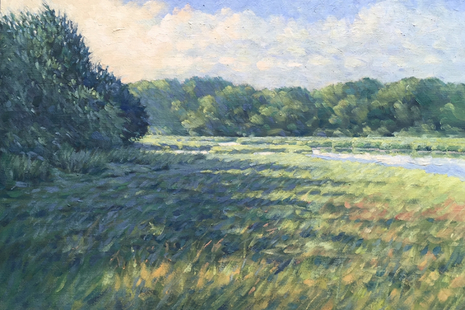 Barnstable Bog   16 x 24 Oil by William Gotha $1650