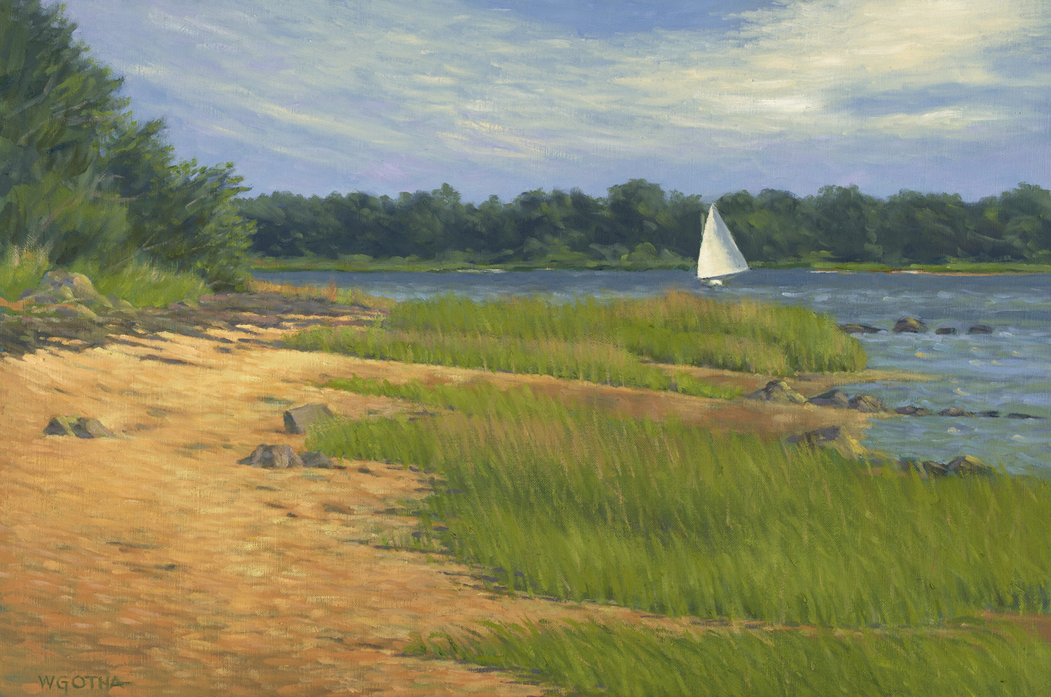 Namequoit Point   (Orleans) 20 x 30 Oil by William Gotha $2200