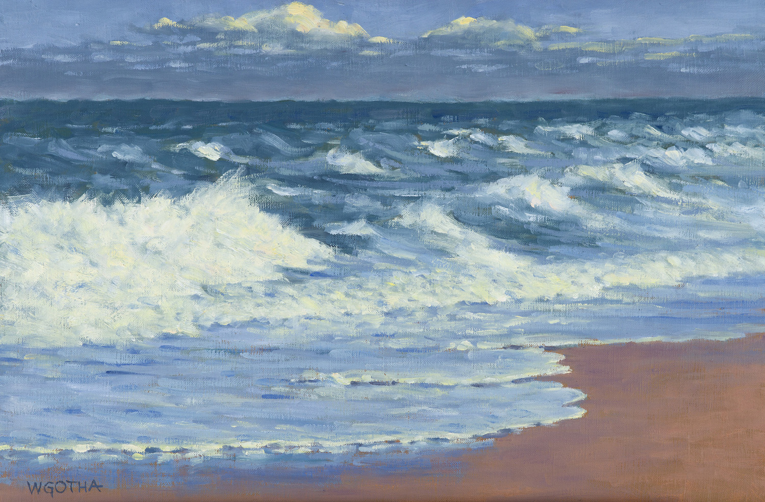 Nauset, Orleans   16 x 20 Oil by William Gotha $1800