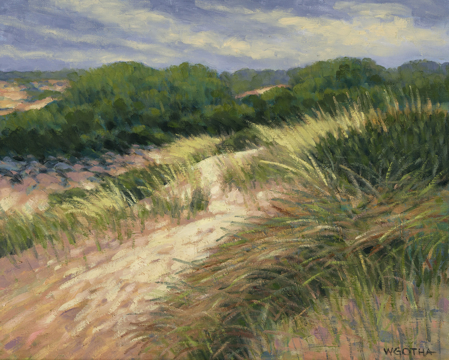 Dunes at Chapin's   (Dennis) 16 x 20 Oil by William Gotha $1650