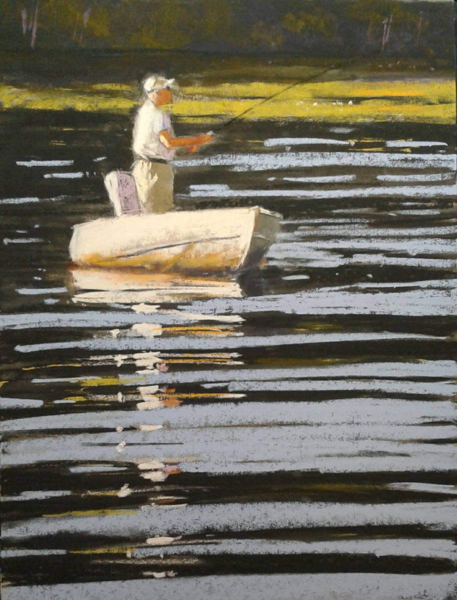 On the Pond   12 x 9 Pastel by Dave KapHammer $475